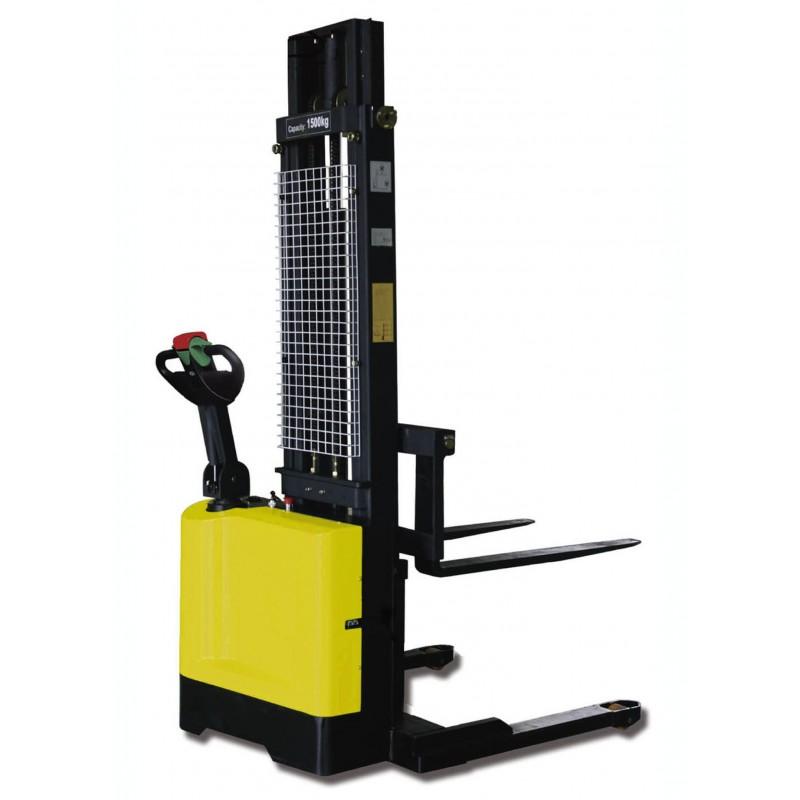 Apilador electrico base ancha regulable